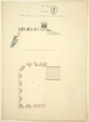 Plan, section and elevation of the Howdah Battery, Gooty